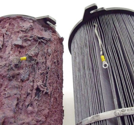 Limpieza filtros industriales - antes y después